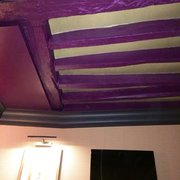 Our purple ceiling. Room 52.