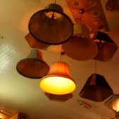 blurry, but you get the idea. cool ceiling/decor.