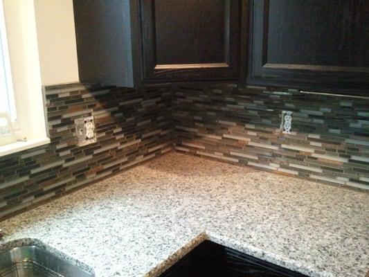 phd maintenance group mosaic tile backsplash installed in novi