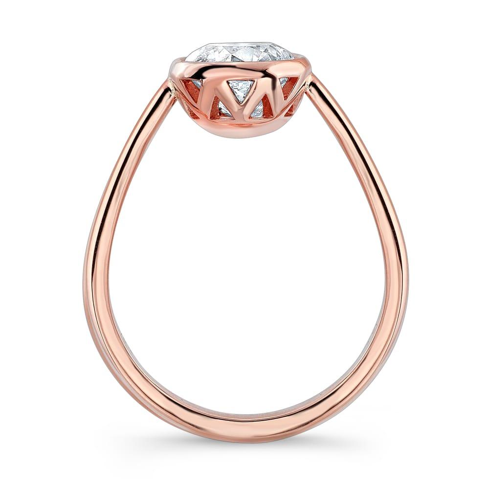 Ritani Endless Love Wedding Band 17 Good Bezel set engagement rings
