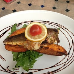 Whitefish with sweet potato yams