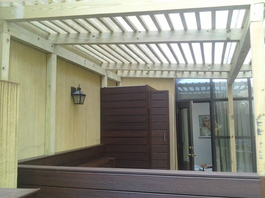Pergola with plexi glass roof new wood yelp - Glas pergola ...