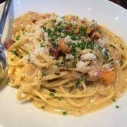 Coppa - Spaghetti alla Carbonara, egg pasta with smoked pancetta, sea urchin and farm egg - Boston, MA, Vereinigte Staaten