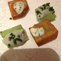 Complimentary appetizers at Galvin…