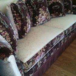 Cronburg & Becker - San Diego, CA, États-Unis. Custom Sofa with mixed of fabrics and long fringe acccent