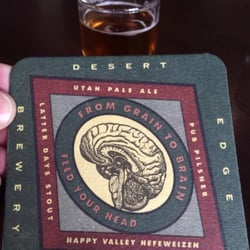Desert edge brewery at the pub menu