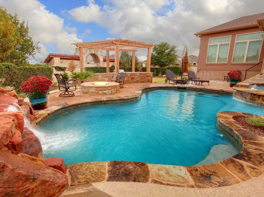 Designer pools outdoor living 35 photos contractors for Designer pools and outdoor living