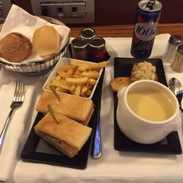 All night room service !  petit club sandwich and the crab bisque
