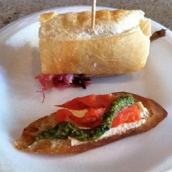 Vino Vino - Dishcrawl Sampler: Brie, fig, and prosciutto panini with ...