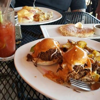 ... CO, United States. Eggs benedict, barbacoa, side pancake, bloody mary