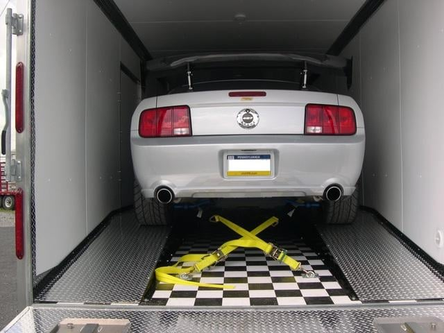 custom car haulers with diamond plate ramps tie down systems white finished interior walls yelp. Black Bedroom Furniture Sets. Home Design Ideas