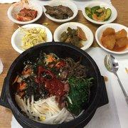 Evergreen Restaurant - Van Nuys, CA, États-Unis. Bibimbap #16  (I added the gochujang!)