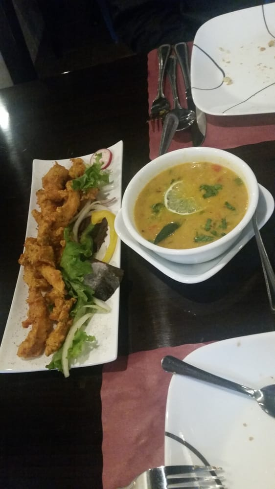 Chicken pakora and mulligatawny soup yelp for Aman indian cuisine
