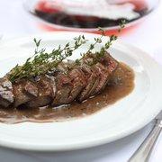 Rinderfilet mit Rotweinpfeffersauce