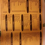 Himitsu Teriyaki - menu back - Bothell, WA, Vereinigte Staaten