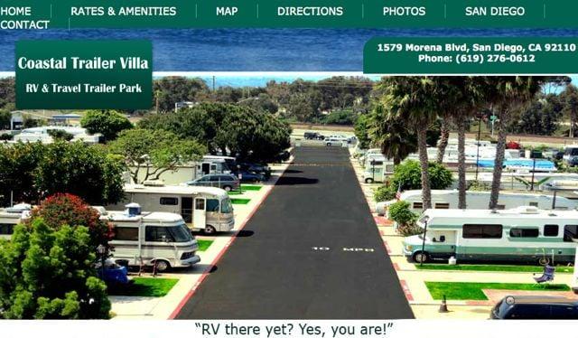 Coastal Trailer Villa Campgrounds San Diego Ca Yelp