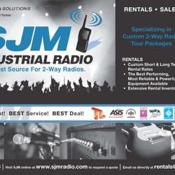 Authorized Motorola Dealer Sjm Industrial Radio logo