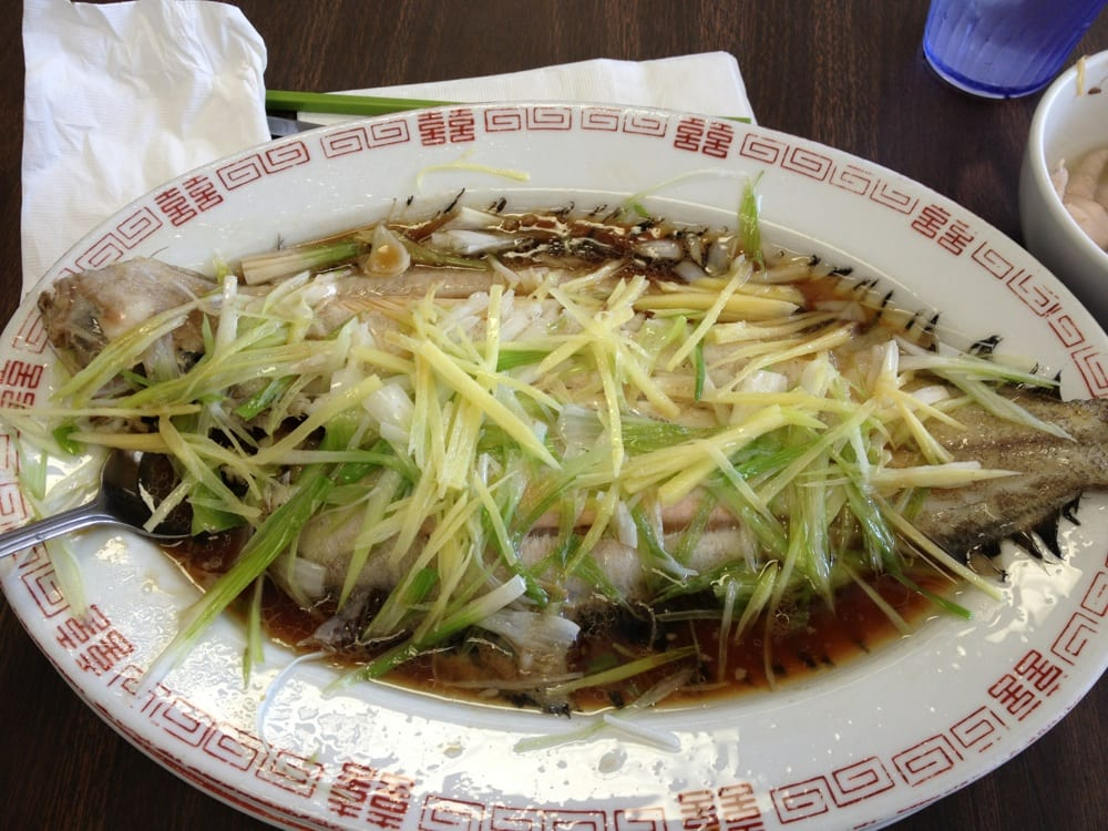... United States. Steamed fish with green onions, ginger, and soy sauce