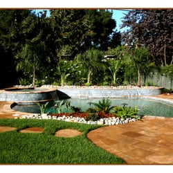 Loayza s pools spas landscaping 51 photos for Low maintenance pool landscaping