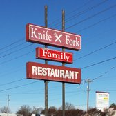 Knife & Fork Restaurant - The sign out front - Monroe, NC, Vereinigte Staaten
