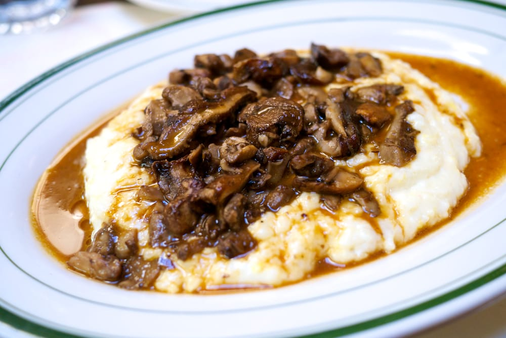 ... States. appetizer: grits and wild mushrooms with white truffle oil
