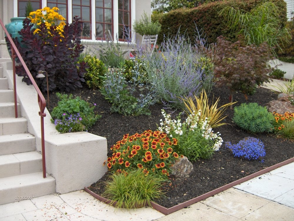 Low maintenance drought tolerant front yard yelp for Low water front yard ideas