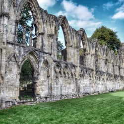 St Mary's abbey ruins.