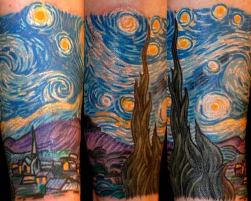Van Gogh Starry Night Tattoo Van Gogh Starry Night
