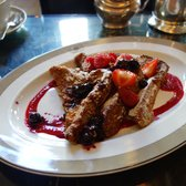French Toast with Fresh Berries and Pure Maple Syrup