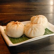Juicy steamed pork buns