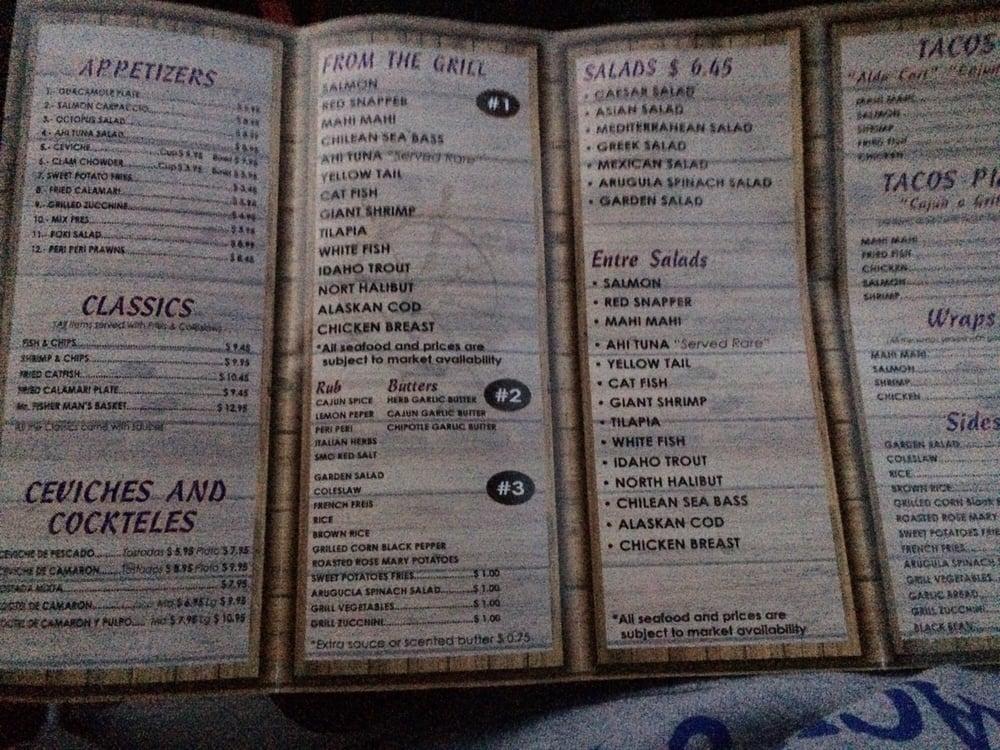 Menu yelp for Mr fish menu