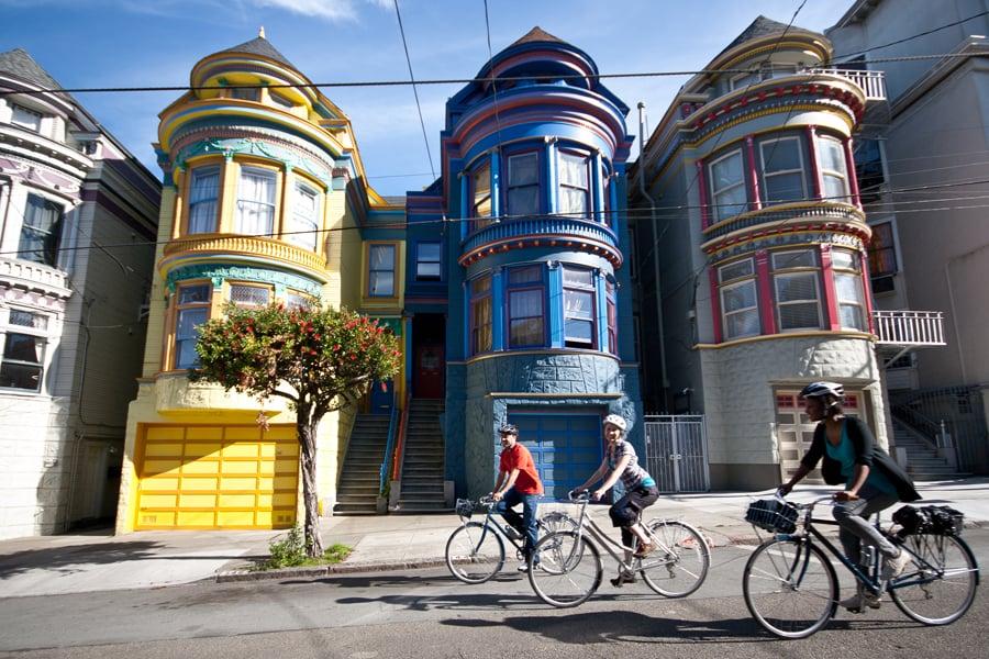 Ride By Painted Ladies In The Haight Ashbury Neighborhood