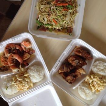 ... United States. Fried noodles, garlic shrimp, and korean fried chicken