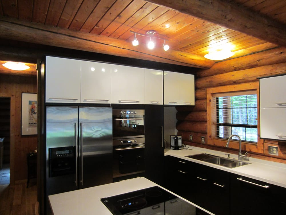 Modern ikea kitchen in a log cabin yelp for Ikea bellevue washington