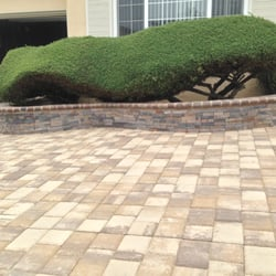 H&J Landscaping Services - retaining wall wih matching pavers - Fremont, CA, United States