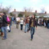 Roath throngs with shoppers