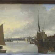 John Berney Crome, Yarmouth Harbor - Evening. About 1816-21.