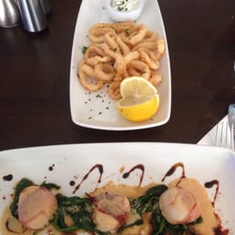 Starters - Calamari and Scallops