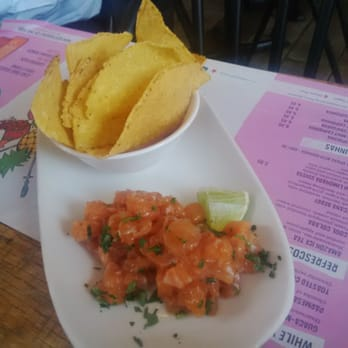 CHOPPED SALMON CEVICHE