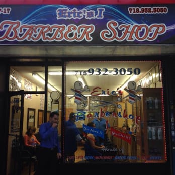 Eric & Franks Barber Shop - Astoria, NY, United States. Front of shop ...