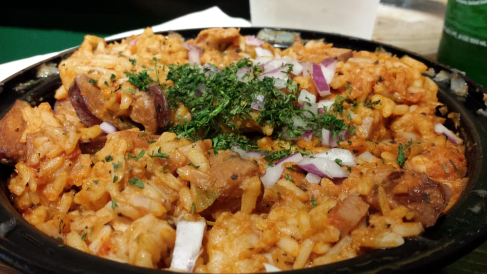 ... Jambalaya - chicken, shrimp, andouille, ham, housemade corn bread