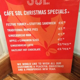 Cafe Sol Menu Dublin