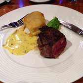 Fillet Steak, truffled peas, dauphinoise potatoes and bearnaise sauce