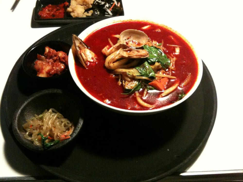 Jjamppong spicy seafood noodle soup yelp for Rock n fish restaurant