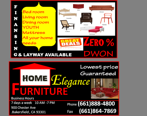Home elegance furniture bakersfield ca yelp for A furniture outlet bakersfield ca
