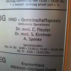 Hno Gemeinschaftspraxis Dr. med. Fleuter, Dr. med. Kirchner, A., Strausberg, Brandenburg