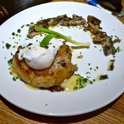 Cheese rosti, duck-egg and mushrooms - superb!