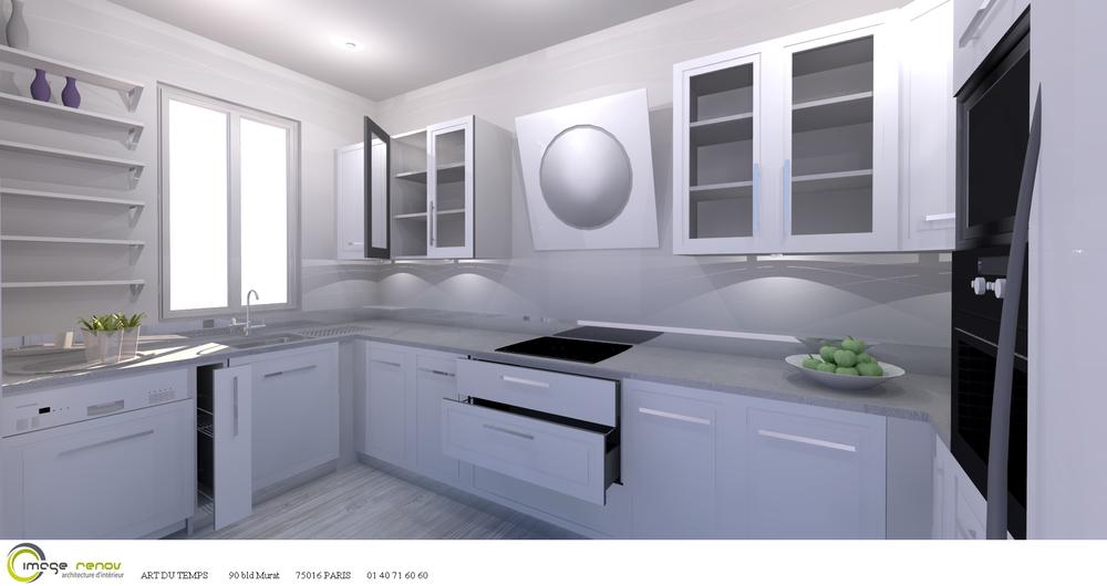 cuisine comera s rie kiss blanc ultra brillant paris 19. Black Bedroom Furniture Sets. Home Design Ideas