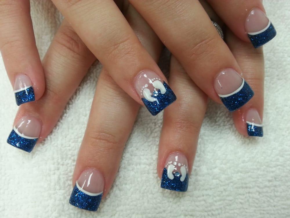 Joy nails amp spa oceanside ca united states blue glitter boy baby