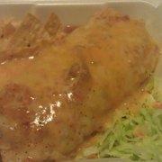 Pepe's Mexican Food - Wet burrito to go! Huge!!!! - Chino, CA, Vereinigte Staaten